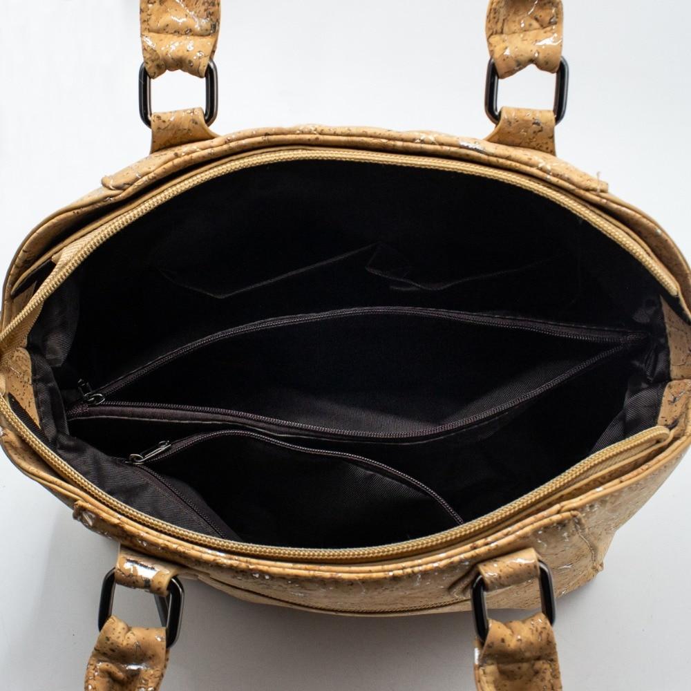 Envío desde Portugal corcho natural Doctor estilo señora corcho bolso regalo vegana respetuoso con el medio ambiente BAGC 004-in Bolsos de hombro from Maletas y bolsas    3