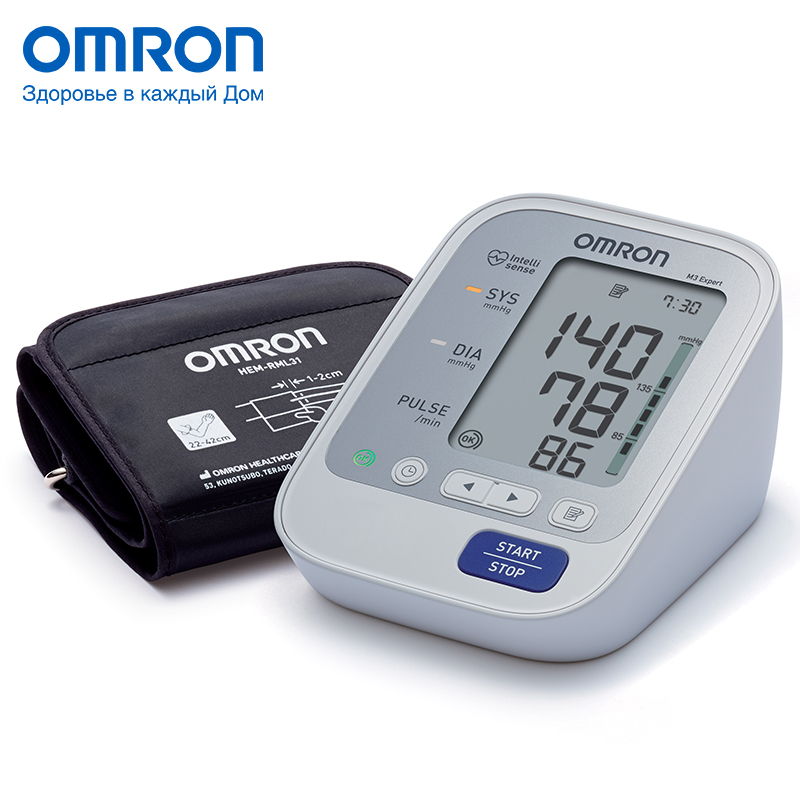 Omron M3 Expert (HEM-7132-ALRU) Blood pressure monitor Home Health care Heart beat meter machine Tonometer Automatic Digital тонометр omron m3 expert hem 7132 alru с адаптером и универсальной манжетой