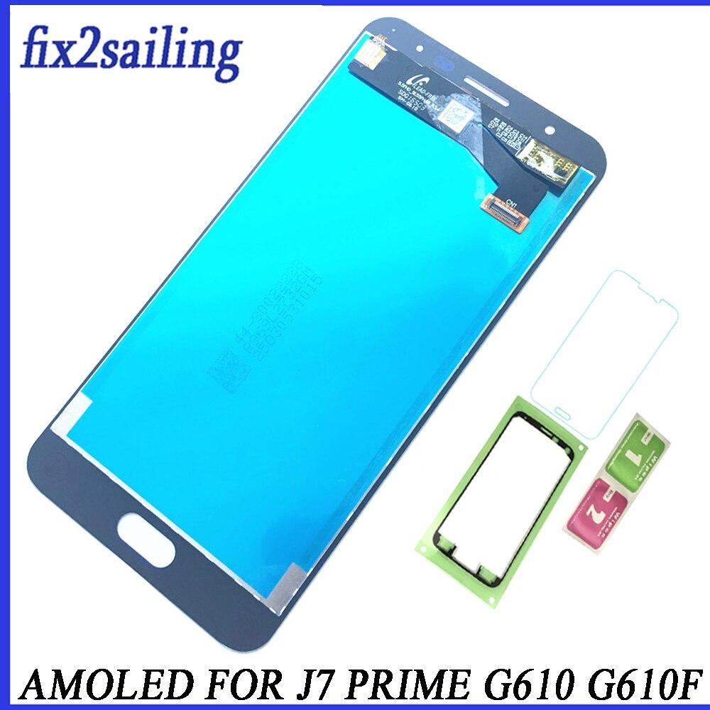 Super AMOLED Pantalla LCD con Pantalla táctil para Samsung Galaxy J7 primer 2016 G610 G610F G610M Pantalla LCD digitalizador Asamblea