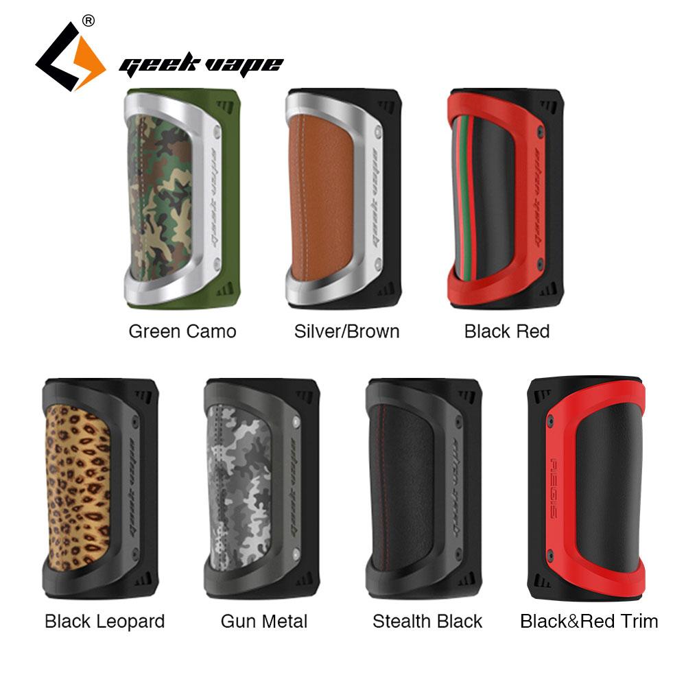 все цены на Original 100W GeekVape Aegis TC Box MOD Waterproof Shockproof dustproof fit 18650/26650 Battery Electronic Cigarette Rubust Vape