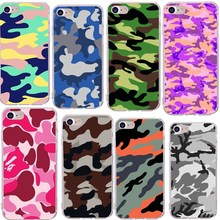 цена на Cases carcasa For iphone 7 Army Camo Camouflage Pattern case for iPhone SE 5 5S 6 7 plus 8 plus Soft TPU Armor protective cases