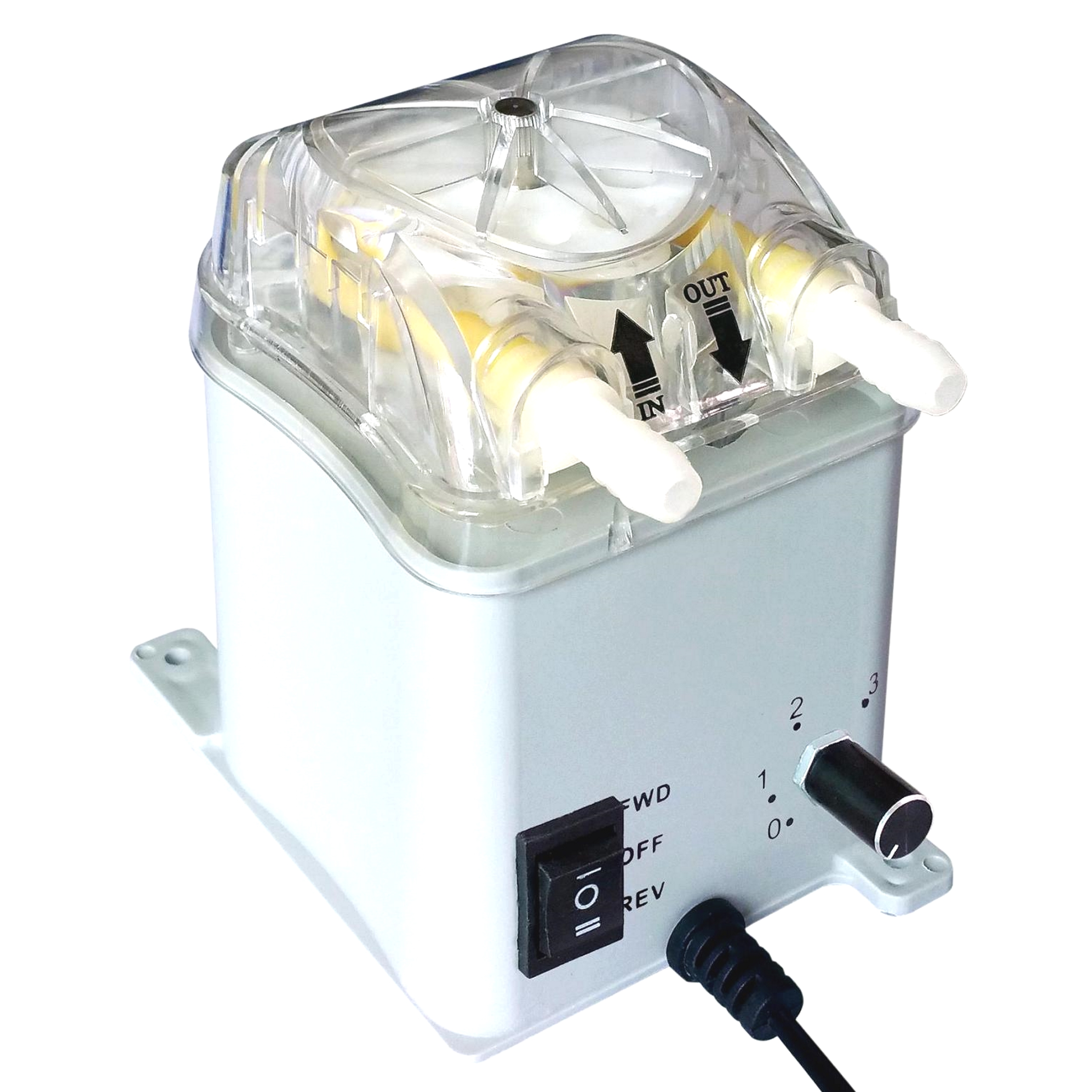50-400ml/min Adjustable, Honlite 24V Brushless Peristaltic Pump With Exchangeable Pump Head And PharMed Peristaltic Tube
