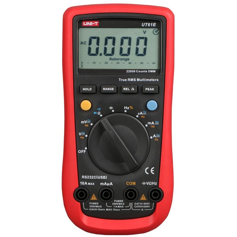Range Resistance UT61A Digital 232 T Frequency RS Auto Capacitance UT61C Test UT61E Temperature UNI Multimeter  UT61B UT61D