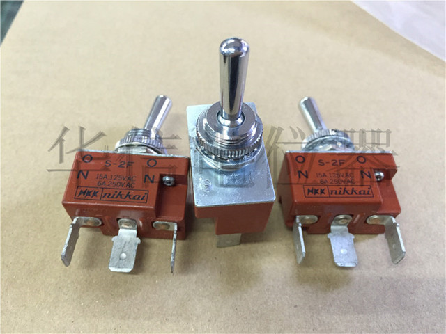 Original new 100% Japan import S-2F ON-ON 6A250VAC 3pin 2gear toggle switch