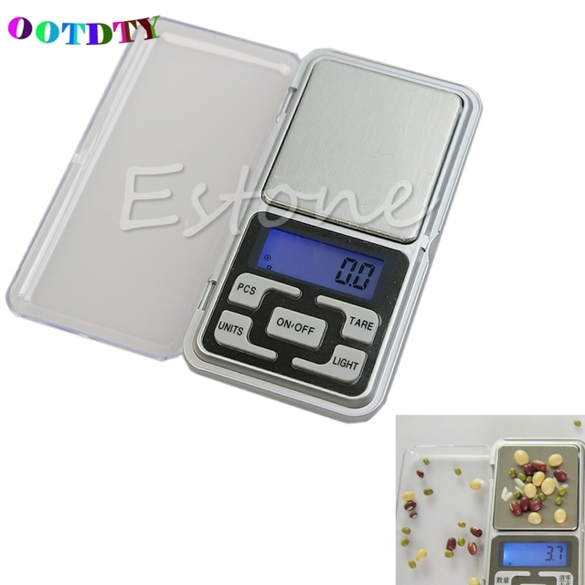 OOTDTY Pocket Scale 500g 0.1g Digital Scale Tool Jewelry Gold Balance Portable Weight Scales Gram