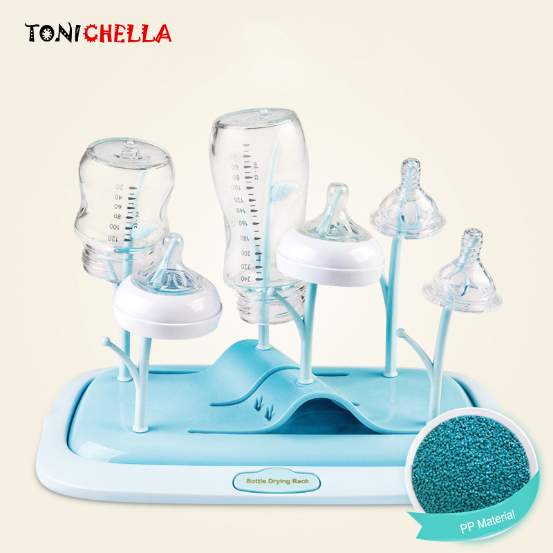 Environmentally PP Safe Baby Bottle Drying Rack Cleaning Drying Storage Rack Nipple Shelf Baby Pacifier Feeding Cup Holder T0345