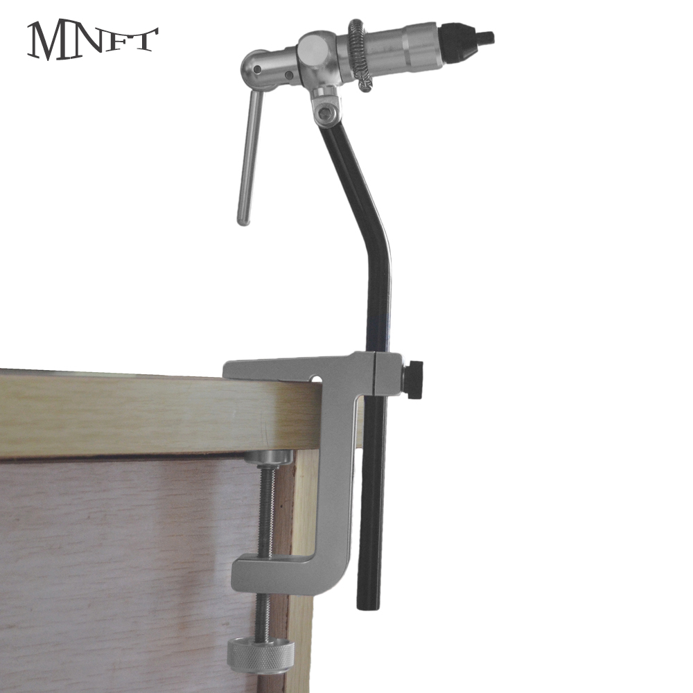 MNFT 1Set Rotary Fly Tying Vise C-Clamp With Heavy Duty Base Hook Tool For Beginner Or Fishing Travellers