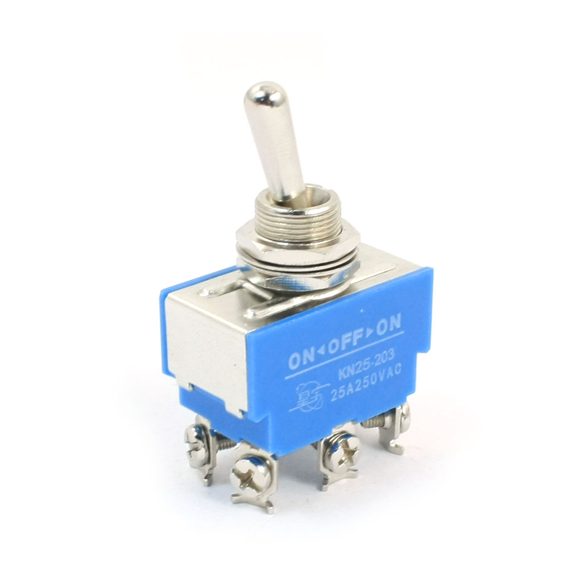 Uxcell Kn25-203 Dpdt 3 Positions On/Off/On Locking Toggle Switch Blue Ac250v 25A . | 12pin | 3pin | 4pin | 6pin | 9pin | pin uxcell 10 pcs single unit pushwheel thumbwheel switch km1 0 9