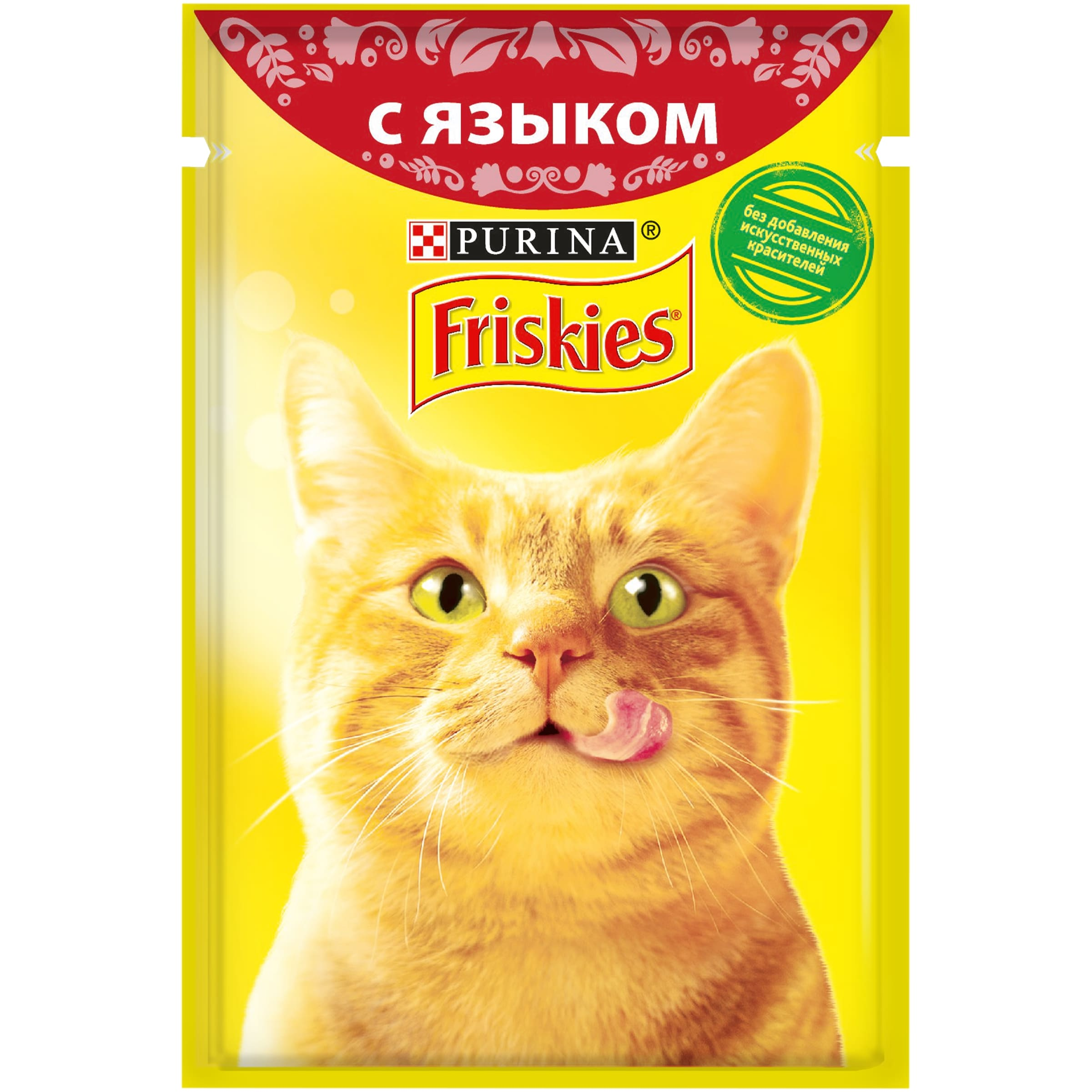 Wet food Friskies for cats with tongue in gravy, 24 pouch x 85 g felix wet fodder for cats in assortment 85 g x 72 pcs