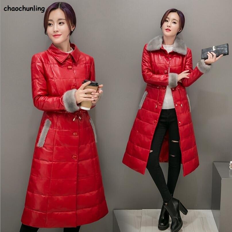 Fourrure Hiver Black Design De Féminine Mode red 100 Bouton Le L'eau Blanc 3xl Corée Chaud Duvet Nouveau Imperméable Bas Épais Canard À Super La Veste Femmes Vers 2018 fSxwqEFw
