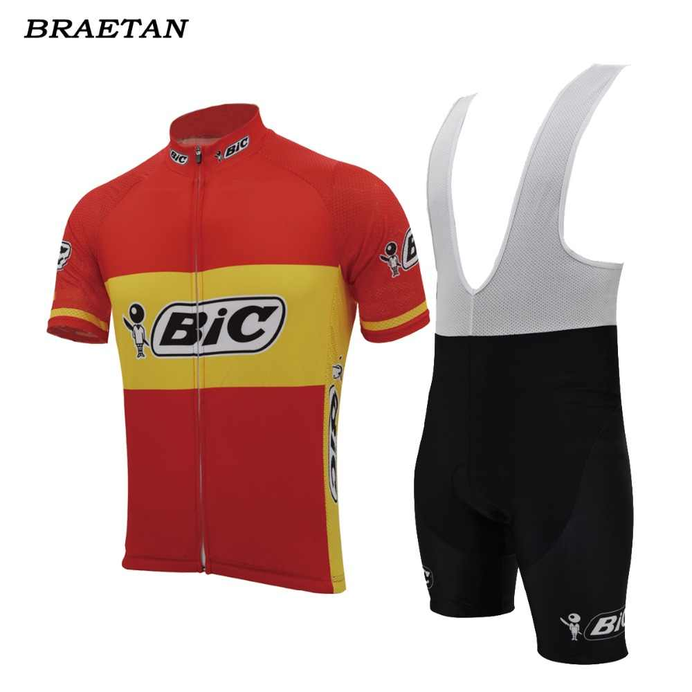 ... bic cycling sets men short sleeve jersey complete bike wear summer cycling  clothing Cycle 3D gel ... 965cbb820