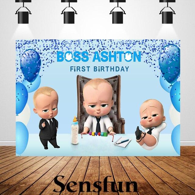 Xq0011 azul bokeh balões crianças festa de aniversário backdrops foto personalizada fundo chefe fotografia do bebê photocall primeiro aniversário