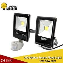 Motion Sensor LED Flood Light 220V 10W 30W 50W Waterproof Floodlight Spotlight Outdoor Lighting Street LED Lamp Reflector IP65