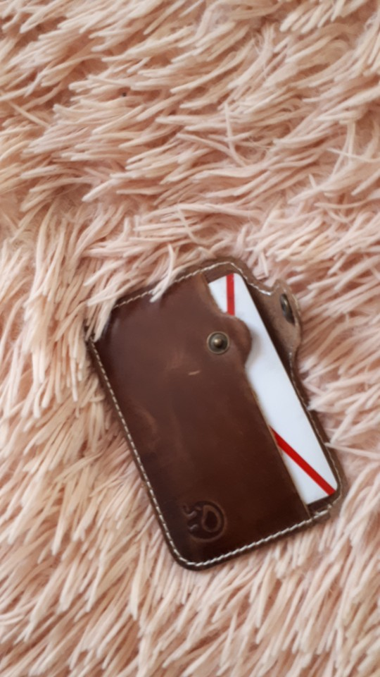 Wholesale Retro Leather Card Wallet Men Business Bank Card Holder Thin Credit Card Case Convenient Small Cards Pack Cash Pocket photo review