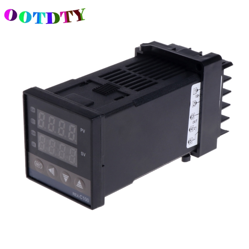 OOTDTY PID Digital Temperature Controller REX-C100 0 To 400degree K Type Input SSR Output Temp Controller
