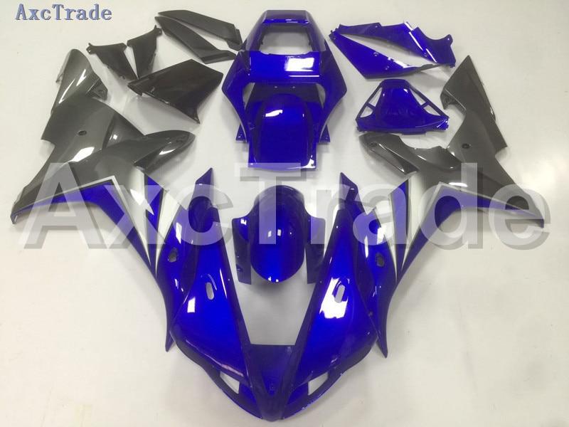 Motorcycle Fairings Kits For Yamaha YZF1000 YZF 1000 R1 YZF-R1 2002 2003 02 03 ABS Injection Fairing Bodywork Kit Blue Black B17