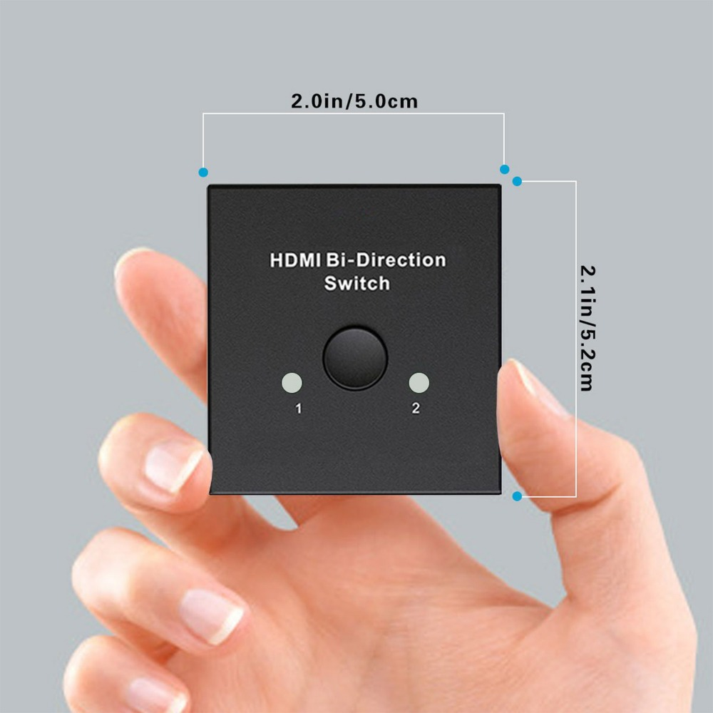Image 5 - HDMI Splitter Adapter, Mini HDMI Switch Bidirectional Input, HIGH RESOLUTION,Support Ultra HD 4K,3D,1080P, for HDTV/DVD/DVR etc.-in Memory Card Adapters from Computer & Office