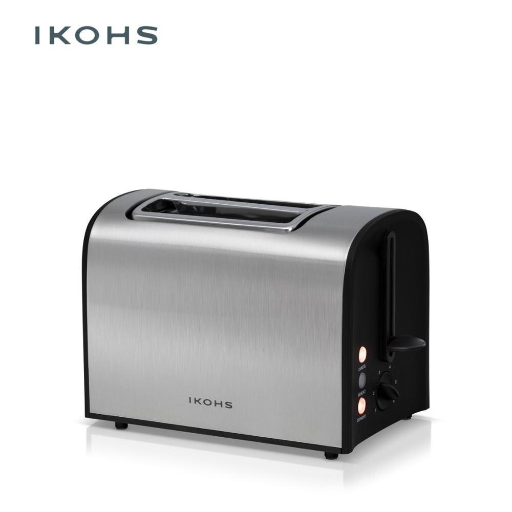 IKOHS suprême Toast grille pain automatique deux fentes 920W aluminium inox pain anguille plateau Migas acier finition 6 niveaux