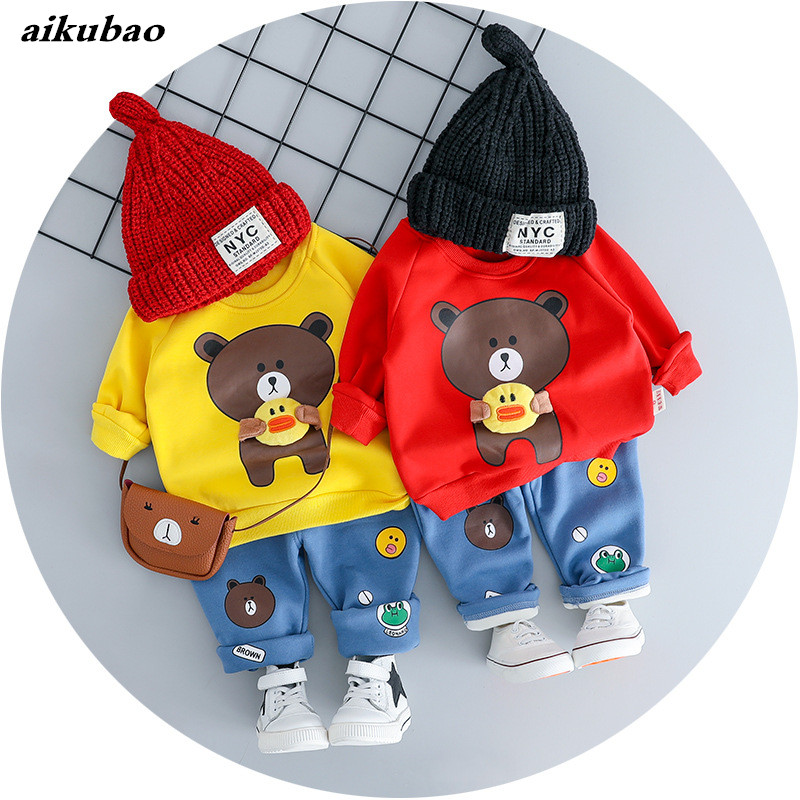Spring, Cartoon, Suits, Pants, Sleeved, Newborn