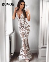 Lace Mermaid Deep V Neck Arabic Sexy Dress 2018 kaftan Dubai Formal Evening Party Gown Backless Side Slit Long Dress