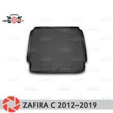 Багажник коврики для Opel Zafira C 2012 ~ 2019 багажника коврики Нескользящие полиуретановые грязи защиты багажник стайлинга автомобилей