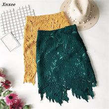 Xnxee 2018 Summer New Arrival Hot Sale Slim Women Short Skirt A-Line Lace Solid sexy Mini 67133