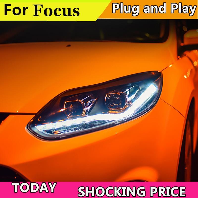 doxa Car Style For Ford Focus headlights Year 2012 2013 2014 For Ford Focus LED Headlight