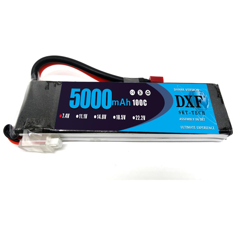 DXF 2S 7.4v 5000mAh 100C