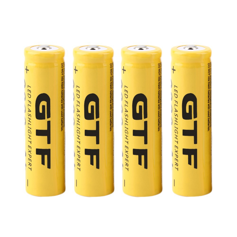 все цены на  GTF Rechargeable Battery 3.7V 18650 9800mAh Capacity Li-ion Rechargeable Battery For Flashlight Torch Yellow Shell Battery Gift  онлайн
