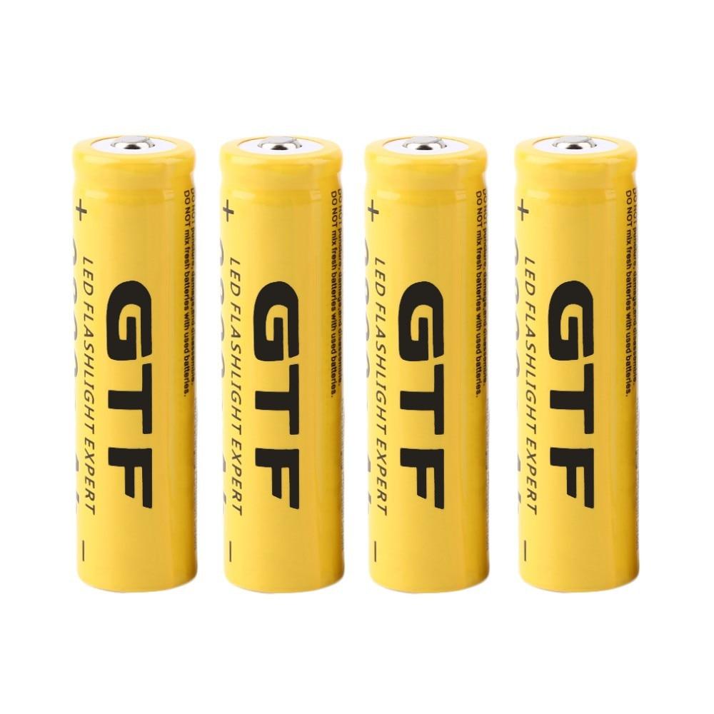 Gtf 18650 Батарея Перезаряжаемые Батарея 3.7 В 18650 9800 мАч Ёмкость литий-ионный Перезаряжаемые Батарея для фонарик факел Батарея подарок