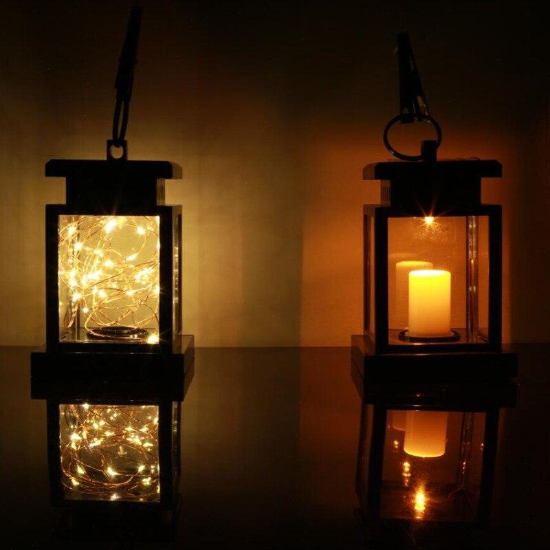 Us 524 30 Offna Zewnątrz Ogród Zasilany Energią Słoneczną Wiszące Led String Oświetlenie Migotanie Lampy świeca Latarnia Do Ogrodu Dekoracyjne