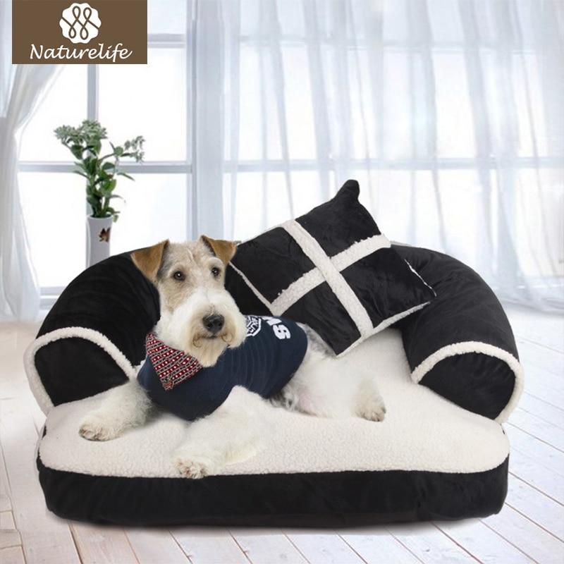 Naturelife Warme Doppel-Kissen Hund Bett Weiche Baumwolle Hund Haus Plus Größe Haustier Bett für Hund und Katze Hund kennel Drop verschiffen