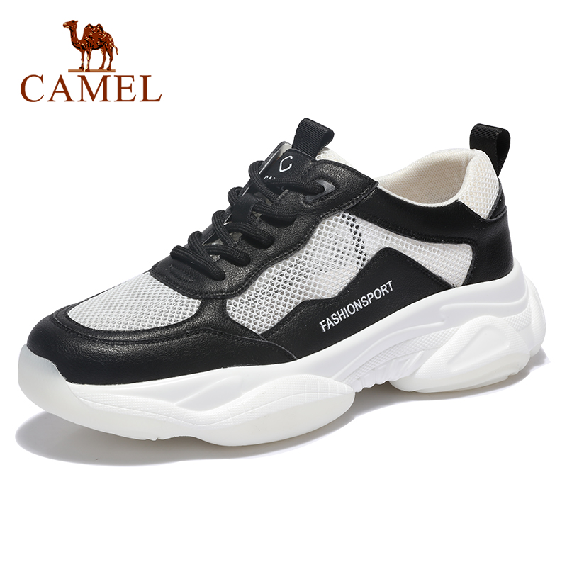 CAMEL Men's Shoes Summer Breathable New Men's Casual Shoes Increased Retro Breathable Sports Mesh Comfortable Male Footwear