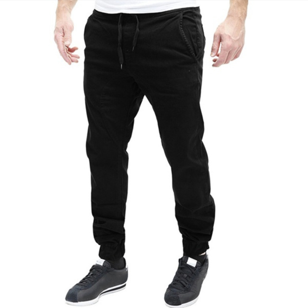 Men Casual Sweat Pants Baggy Slim Trousers Soft Gift