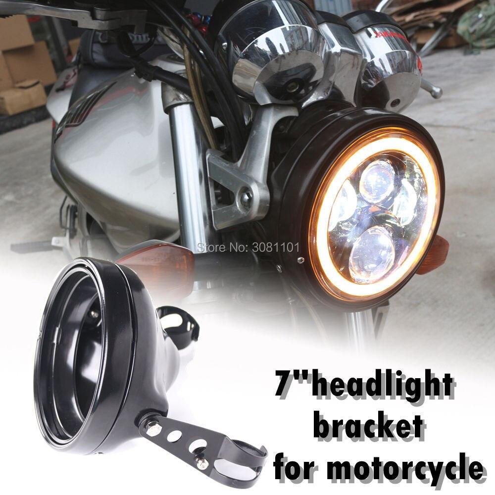 Black 7 inch LED Projector Daymaker Headlight Bracket Motorcycle Headlamp Bucket for Honda CB1300 CB400 for Yamaha for Suzuki