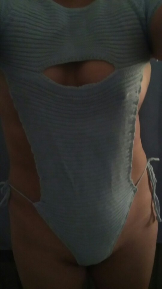Sexy Women Cosplay Backless Virgin Killer Sweater Bodysuit Bandage Hollow Japanes Knitted Sweaters And Pullovers FX38