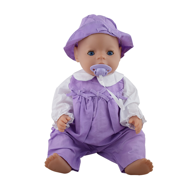 Dolls Jump Suits With The Hat Fit For 43cm Baby Born Zapf Doll Reborn Baby Clothes 17inch Doll Accessories rose christmas gift 18 inch american girl doll swim clothes dress also fit for 43cm baby born zapf dolls