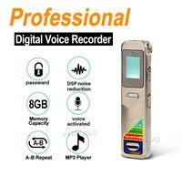 8 gb 전문 음성 활성화 레코더 espia 디지털 사운드 오디오 녹음 펜 딕 터폰 mp3 플레이어 숨겨진 비밀 번호 보호