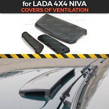 Capas de ventilação para lada niva 4x4 1 conjunto/3 peças abs plástico no capuz e lateral acessórios para estilo de carro