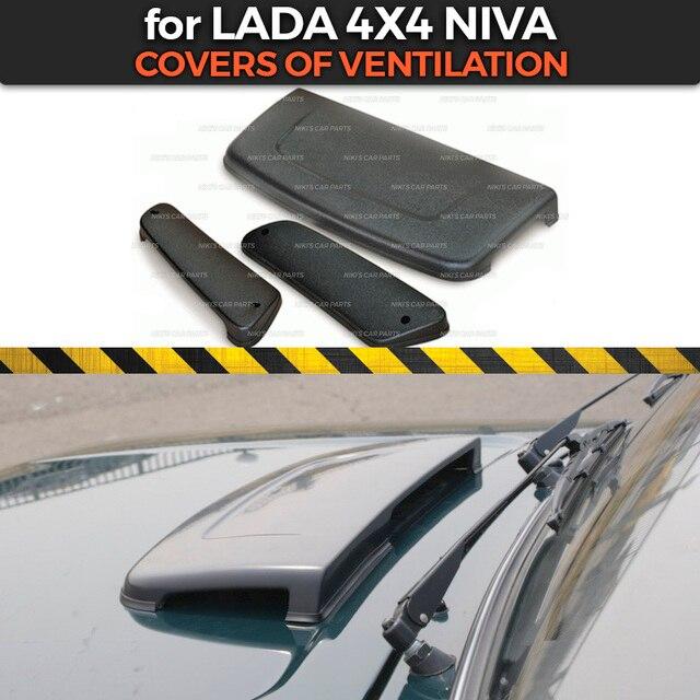 Cubiertas de ventilación para Lada Niva, 4x4, 1 juego/3 uds, la campana y plástico ABS en bastidores laterales, función de accesorios de estilo de coche
