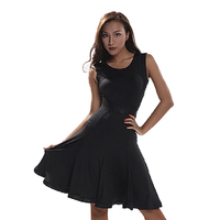 Sexy Latin Practice Dress Clothing Dance Queen Performance Wear Sleeveless Dress Adult Black Tango Skirt For Women Lady DWY356