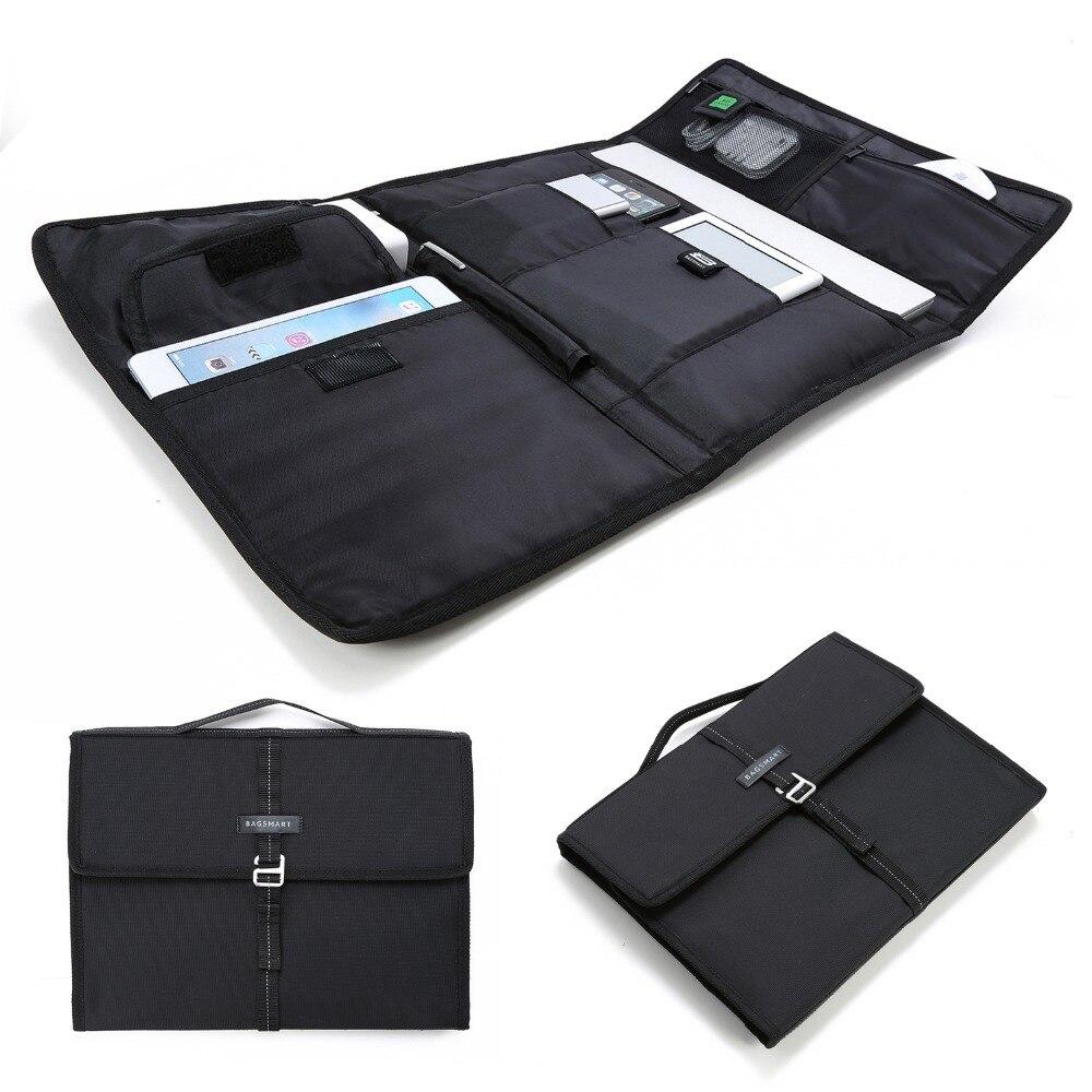 BAGSMART Laptop Sleeve Business Electronics Organizer Briefcase Tablet Portfolio Case Fit For MacBook Air/MacBook Pro13''