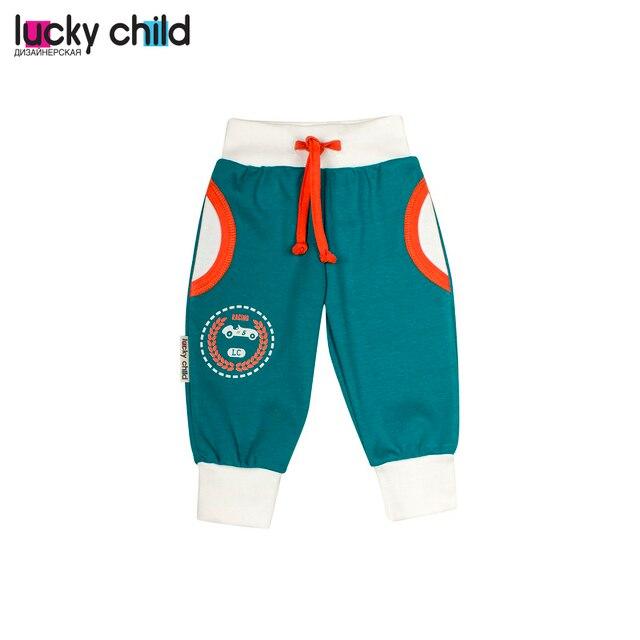 Штанишки детские футер LUCKY CHILD для мальчиков 21-11f