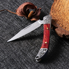 DAOMACHEN l Carving folding pocket knives 5Cr13 black blade camping hunting knife outdoor edc multi tool Super sharp
