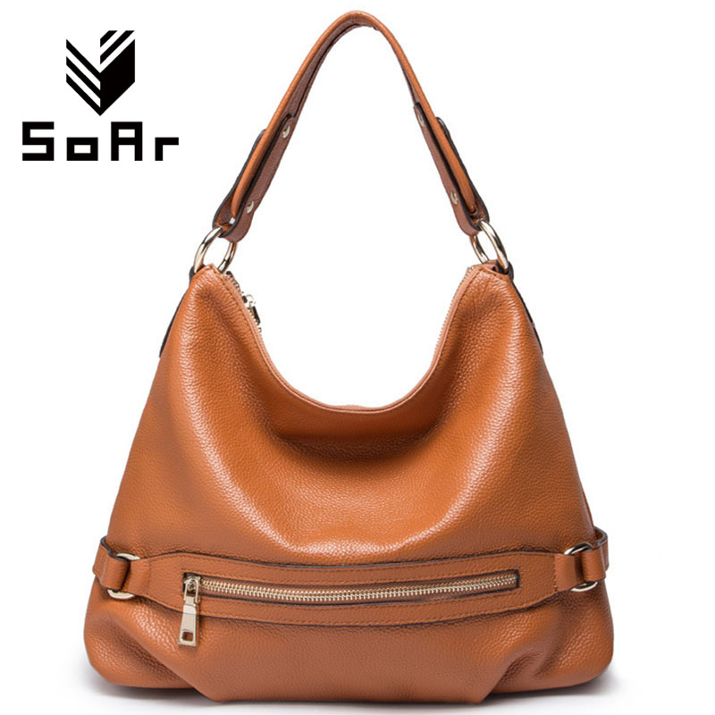 SoAr Genuine leather bag luxury handbags women bags designer zipper women shoulder messenger bags ladies real leather fashion 4 luxury handbags women bags designer red genuine leather tassel messenger bag fashion extra large casual tote zipper shoulder bag page 4