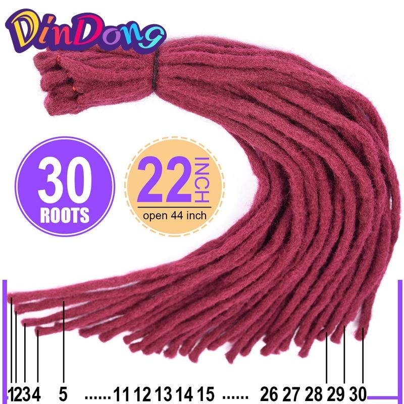 DinDong 22 tum Kanekalon Dreadlocks Men 8 Färger tillgängliga - Syntetiskt hår - Foto 4