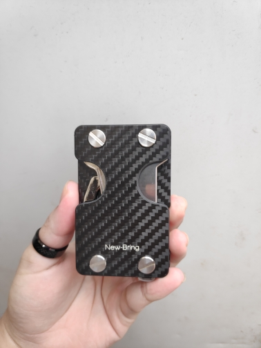 NewBring Multi-functional Metal Money Clip Men with Credit Card Wallet and key holder photo review