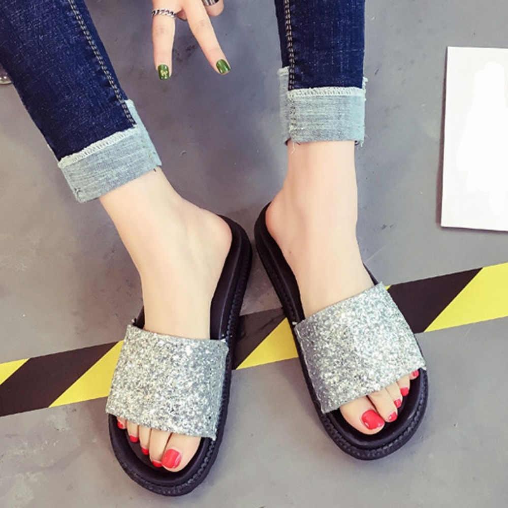 Scarpe da donna sandali degli alti talloni delle donne sandali piatto scarpe casual sandali di estate delle donne 2019 di estate scarpe vera e propria piattaforma pantofole
