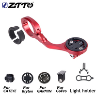 ZTTO MTB BIKE GPS Go Pro Sports Out front Mount For Garmin Cat Eye Bryton Bicycle Computer Camera Light Holder All In One