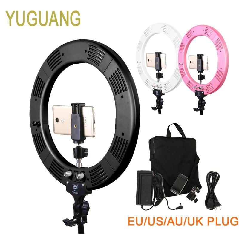 Photo Studio Lighting 16 Ring Light 60W 448PCS LED Stepless Adjusted Photo Studio 3 Colors with Tripod Phone Clamp Ball head